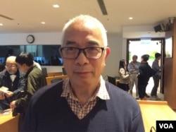 金尧如新闻基金管理委员会主席程翔(美国之音记者 申华拍摄)
