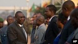 Michel Djotodia en partance pour N'Djamena, le 7 janvier 2014