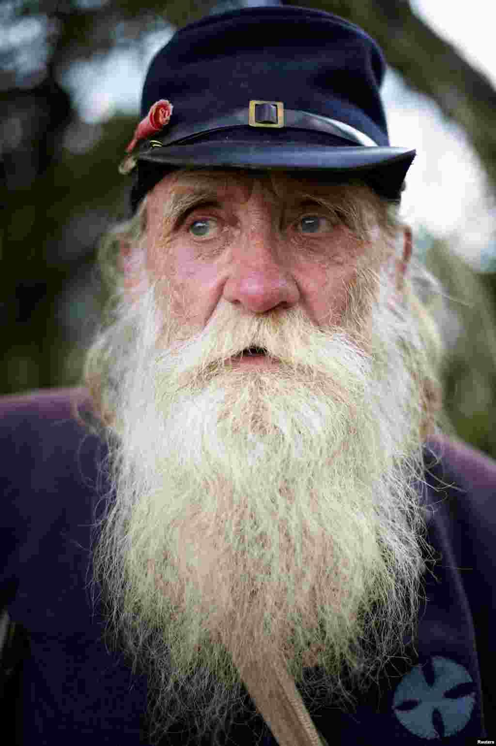 Jim Jones, de 65 años, es uno de los actores que participaron en la reacreación de la Batalla de Gettysburg.