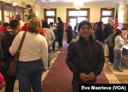 Diaspora Indonesia Jay Suherwanto ikut memilih di TPS White Plains, New York.