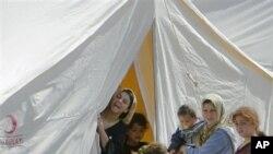 6月14日在土耳其一所难民营里的叙利亚难民
