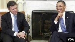 Los presidentes Juan Manuel Santos y Barack Obama se reunieron en abril pasado en la Casa Blanca.