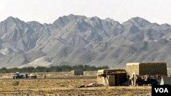 Pangkalan militer Amerika di Shamsi, Pakistan yang sering digunakan untuk pendaratan bagi pesawat-pesawat tempur tak berawak AS.