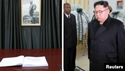 김정은 북한 노동당 위원장이 지난 28일 주북한 쿠바대사관을 방문해 피델 카스트로 전 쿠바 국가평의회 의장의 사망에 애도를 표시했다고 조선중앙통신이 29일 보도했다.