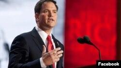 Senator Republik dan mantan kandidat calon presiden, Marco Rubio dari Florida.