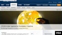華盛頓研究機構傳統基金會日前發佈了研究報告--《2014年經濟自由全球議程》。