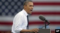 Tras la Convención Nacional Demócrata, el presidente Barack Obama se presentó en la Universidad de Iowa este viernes.