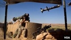 """ამერიკელი ჯარისკაცი """"ჯაველინით"""" ავღანეთში"""