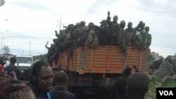 Para tentara pemberontak M23 menguasai sebagian kota Goma di Republik Demokratik Kongo (20/11).