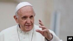 天主教教宗方济各在梵蒂冈 (2018年9月19日)