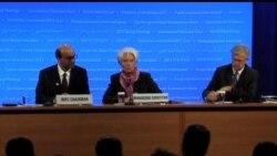 2012-04-22 美國之音視頻新聞: IMF總裁在春季會議後表示樂觀