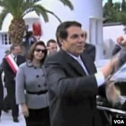 Svrgnuti predsjednik Ben Ali sa suprugom Leilom Trabelsi
