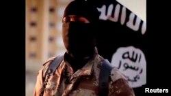 Extrait d'une vidéo de propagande du groupe Etat Islamique datant de septembre 2014.