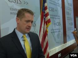 """CSIS導彈問題專家卡拉科2016年8月9日接受美國之音採訪"""" (美國之音黎堡攝 )"""