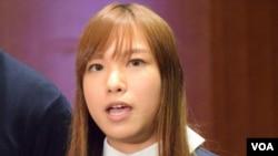 青年新政立法會議員游蕙禎 (美國之音記者湯惠芸拍攝)