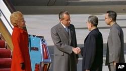 尼克松与周恩来握手