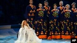 Выступление Юлии Самойловой на открытии Паралимпийских игр 2014 в Сочи