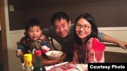 Xiyue Wang and his family