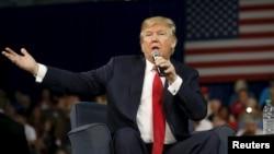 Bakal capres Partai Republik, Donald Trump (foto: dok). NBC Universal dan Donald Trump menjadi salah satu pemilik Organisasi Miss Universe hingga awal tahun ini, namun NBC Universal memutus hubungan dengan Trump setelah pernyataan kontroversialnya tentang imigran.