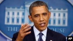 美國總統奧巴馬10月8日就美國債務上限問題發表講話。
