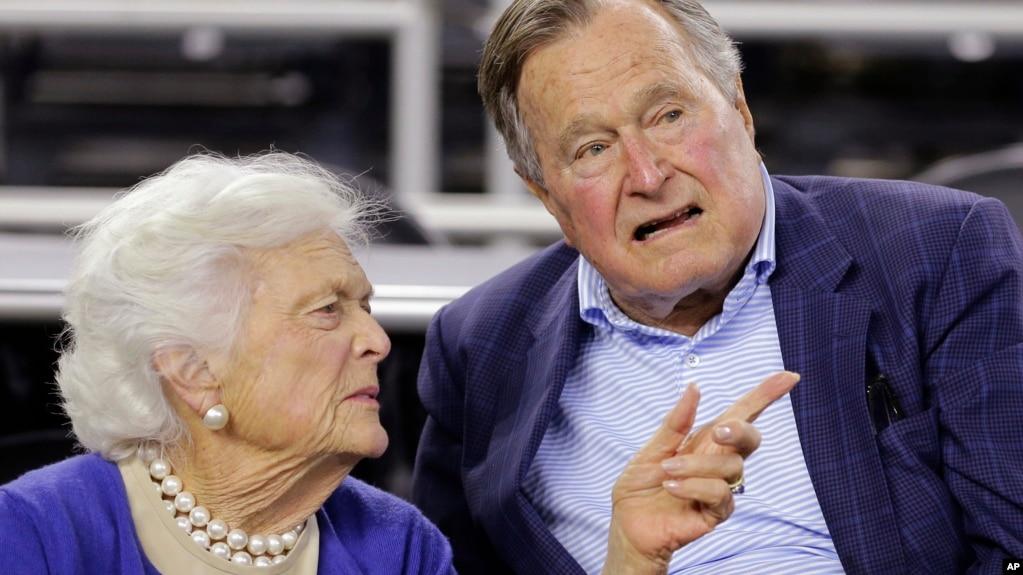 美国前第一夫人芭芭拉·布什健康不佳——老布什可以随便捏人屁股了