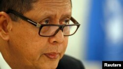 FILE - Marzuki Darusman, U.N. special rapporteur on human rights in North Korea, has laid out a strategy to hold North Korea accountable for abductions of foreign nationals.