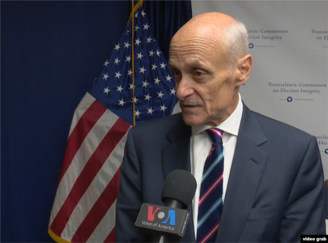 Former U.S. Homeland Security Secretary Michael Chertoff is co-chair of the Transatlantic Commission on Election Integrity.