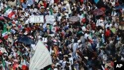 墨西哥示威者们走上街头(2017年2月13日)