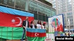 Türk Yürüşündə Azərbaycan Nyu York Assosiyasının stendi