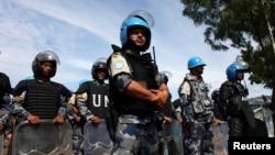 Binh sĩ gìn giữ hòa bình Liên Hiệp Quốc ở Nam Sudan.