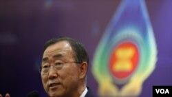 Sekretaris Jenderal PBB Ban Ki-moon mendukung keputusan ASEAN memilih Burma sebagai ketua organisasi itu tahun 2014.