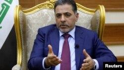 Le ministre irakien de l'Intérieur Mohammed Salem al-Ghabban lors d'une interview avec Reuters à Bagdad le 14 juin 2016.