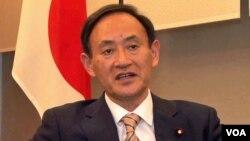 스가 요시히데 일본 관방장관. (자료사진)