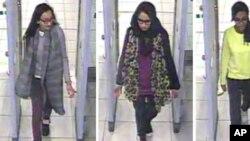 خدیجه سلطانه (سمت چپ) در تصویری که پلیس لندن از او ثبت کرده بود.
