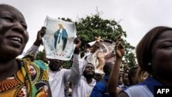 Les catholiques participent à une manifestation pour demander la démission du président de la République démocratique du Congo, à Kinshasa, le 31 décembre 2017.