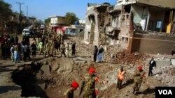 Informes indican que un edificio dañado pertenece a la principal agencia de espionaje del país.