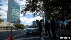 紐約警方在聯合國大會舉行期間加強保安戒備