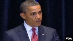 Presiden Barack Obama berbicara di depan parlemen Australia di Canberra (16/11).