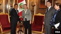 El presidente Ollanta Humala sostuvo reunión con funcionarios de entidad financiera internacional.