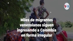 Miles de migrantes venezolanos siguen ingresando a Colombia en forma irregular