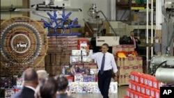 Predsednik Obama održao je govor u jednoj fabrici igračaka, u Pensilvaniji