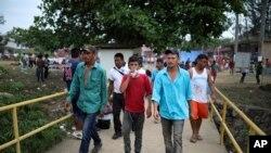 Migranti iz Centralne Amerike prolaze kroz Meksiko