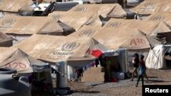 Campo de refugiados sirios en las afueras de Arbil, en la región kurdistán de Irak.