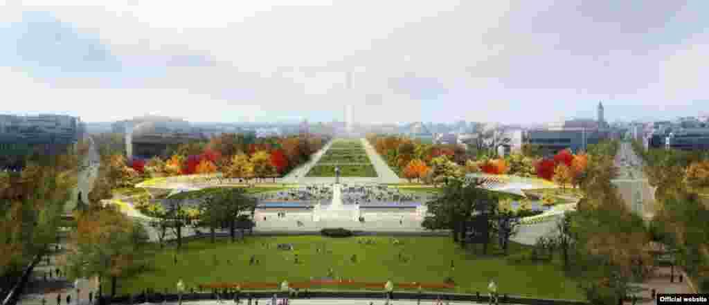 Jardines al lado del lago, comedores flotando sobre el agua, cubiertas florales para nuevos anfiteatros y pabellones subterráneos al pie del Monumento a Washington se han convertido en finalistas del concurso de diseño.