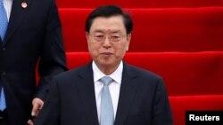 Ông Trương Đức Giang, quan chức cấp cao nhất của Trung Quốc chịu trách nhiệm về sự vụ của Hong Kong.
