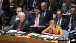 우크라이나 문제 논의하는 유엔 안보리 회의 광경 (자료사진)