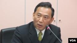 台湾国防部资源规划司处长刘靖中上校(美国之音张永泰拍摄)