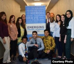 """Diovio Alfath bersama para penerima penghargaan """"Emerging Young Leaders"""" dari Pemerintah AS (Dok: Diovio Alfath)"""