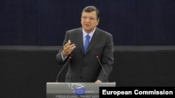 Predsednik Evropske komisije Žoze Manuel Barozo tokom govora o stanju Unije u Evropskom parlamentu u Strazburu, 12. septembar 2012.