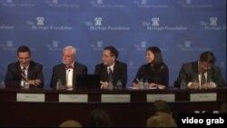 傳統基金會10月2日研討會討論台灣與南中國海 (視頻截圖)